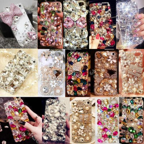 Luxury Gems Diamond Crystal Bling Rhinestone Hard Case Cover