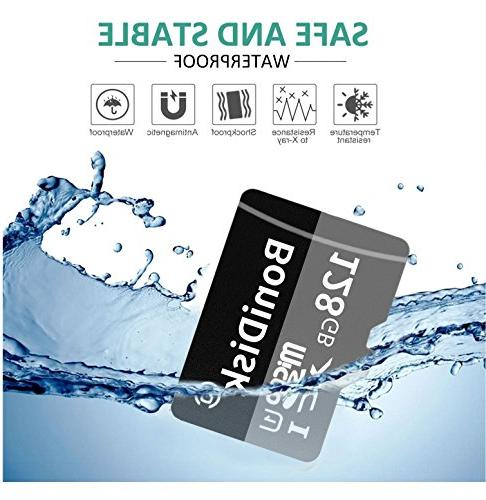 BoniDisk 128GB Micro SDXC Card Speed Card with