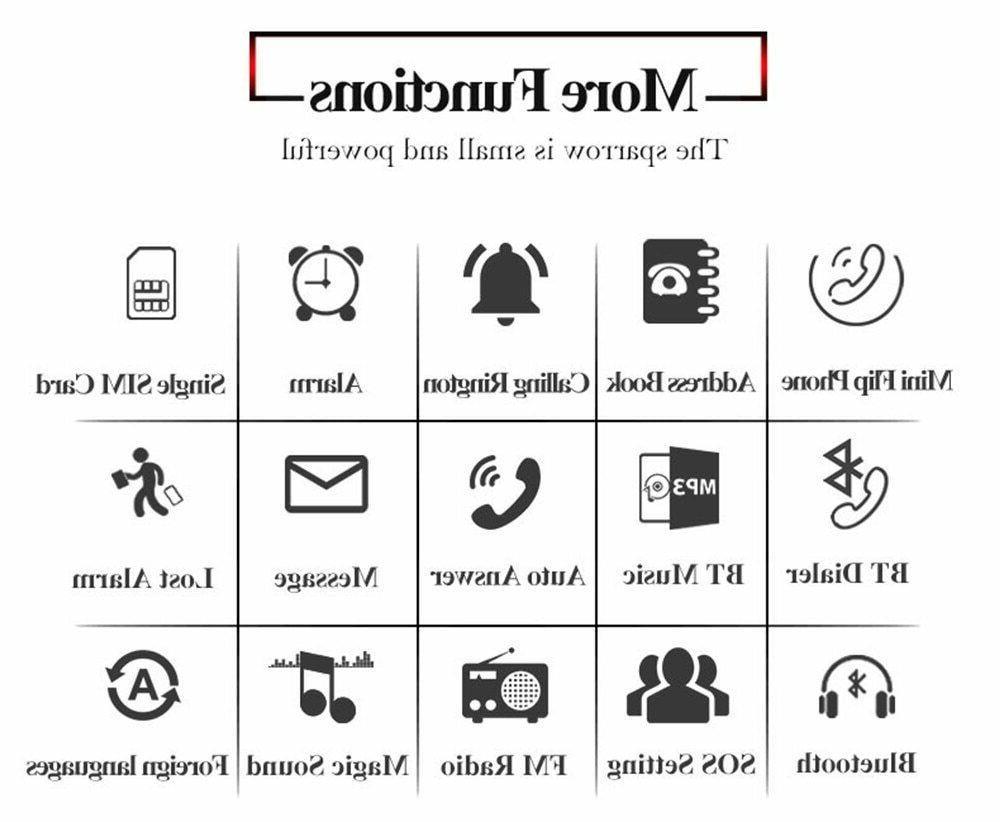 Mini Flip LONG-CZ world Cell Phones Unlocked Gadget