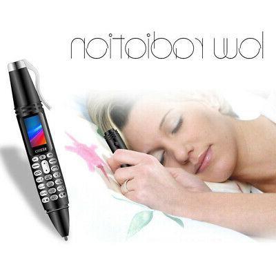 Mini Screen Pen Mobile Phone Bluetooth Dialer Camera Flashlight