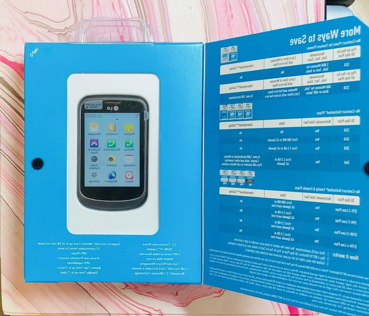 Net10 LG Touchscreen 3G 2mg Pre New In