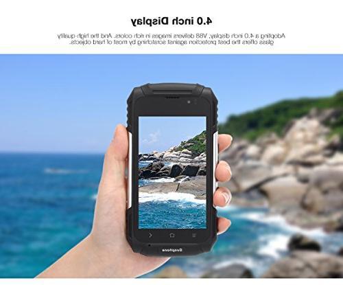 Hipipooo Dustproof Shakeproof Smartphone 5.1 Phone QHD Quad-Core,Dual Card