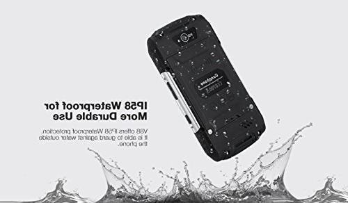 Hipipooo Waterproof Dustproof Shakeproof Smartphone 5.1 Unlocked Phone 4.0 QHD SIM Card Slot