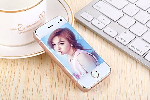 """Pocket GSM Mini Cellphone 2.45"""" Android 5.1 Mobile Phone Capacitive for Students and"""
