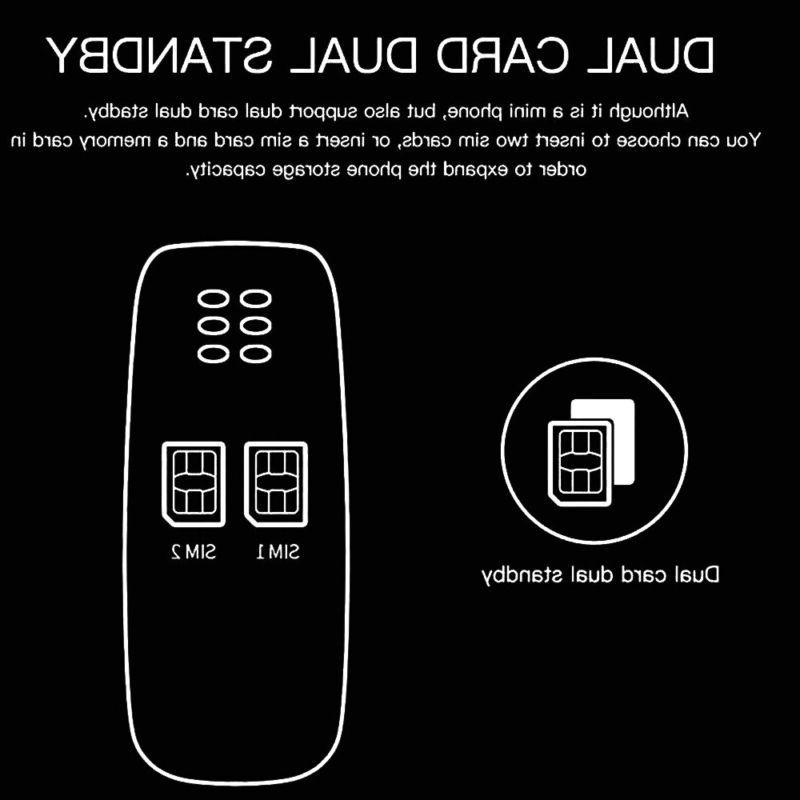 Portable Tiny Small Micro Mobile GSM Dual Sim
