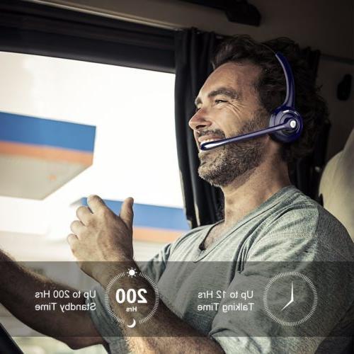 Mpow Trucker Headset Phone Headphone Mic