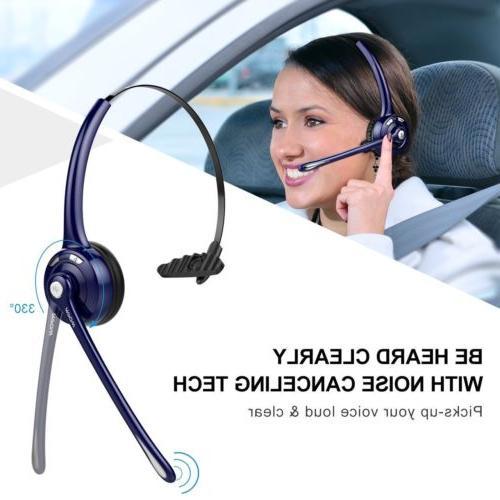 Mpow Pro Trucker Bluetooth Headset Office Cell Phone Headphone