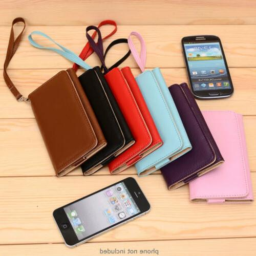 PU Leather Protective Wallet Case Clutch Cover for Smart-Pho