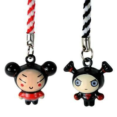 SET OF 2 PUCCA AND GARU BELL CHARMS Cute Cartoon Tiny Cell P