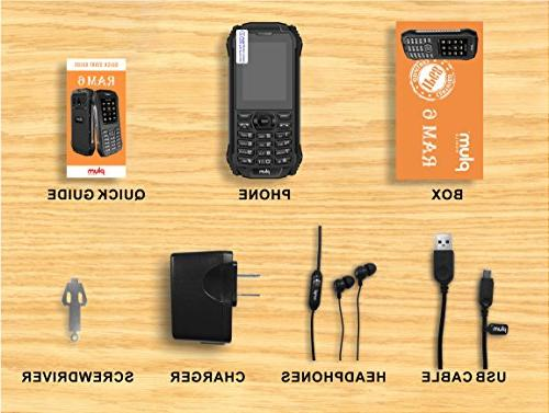 Plum Rugged Cell GSM Water IP Certified FM Bluetooth SD - Black