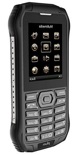 Plum Ram Rugged Unlocked GSM IP Certified Grade Camera Flash FM Radio Card - Black
