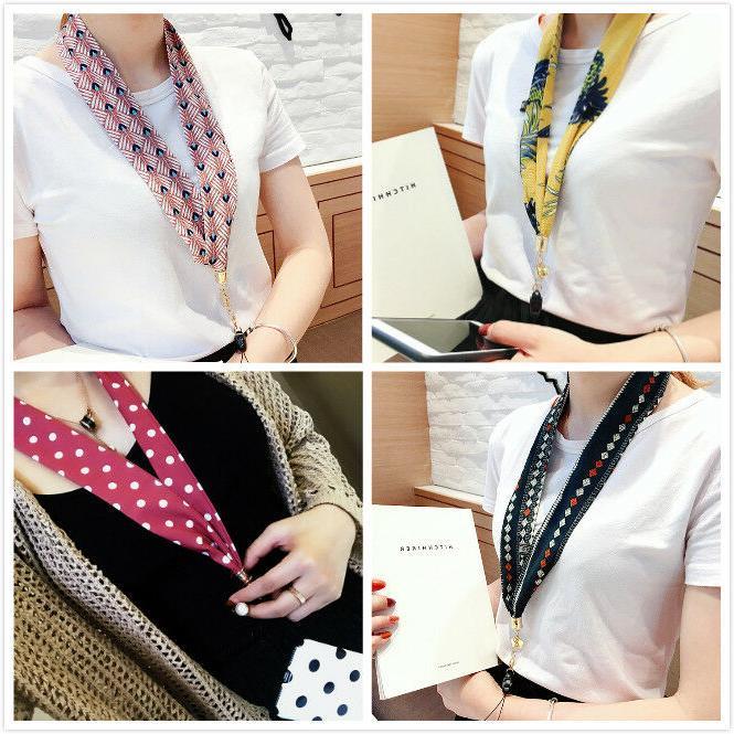 retro style neck strap premium ribbon lanyard