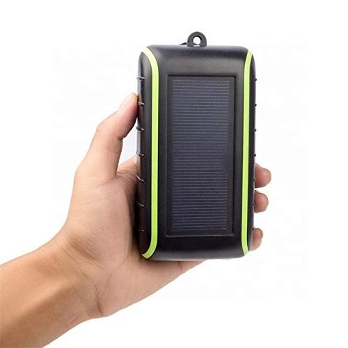 Solar 10000 Charger, USB Output Flashlight, Power Mobile Phone for &