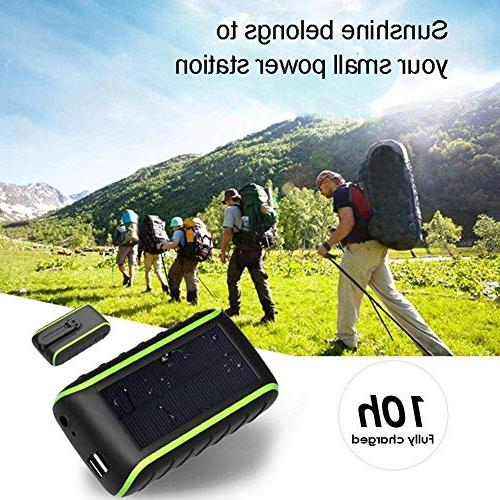 Solar Charger 10000 Charger, 2019 Dual USB & Flashlight, 3 Mobile for &
