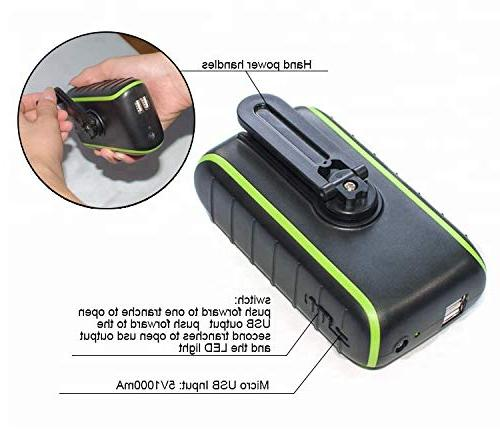 Solar Charger 10000 Solar Charger, 2019 USB & Flashlight, 3 Power Modes, Mobile for Indoor &
