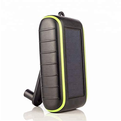 solar charger hand crank portable