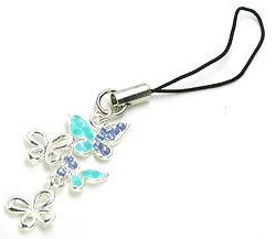 Triple Butterfly Wholesale Jewelry for Cell Phone Charms
