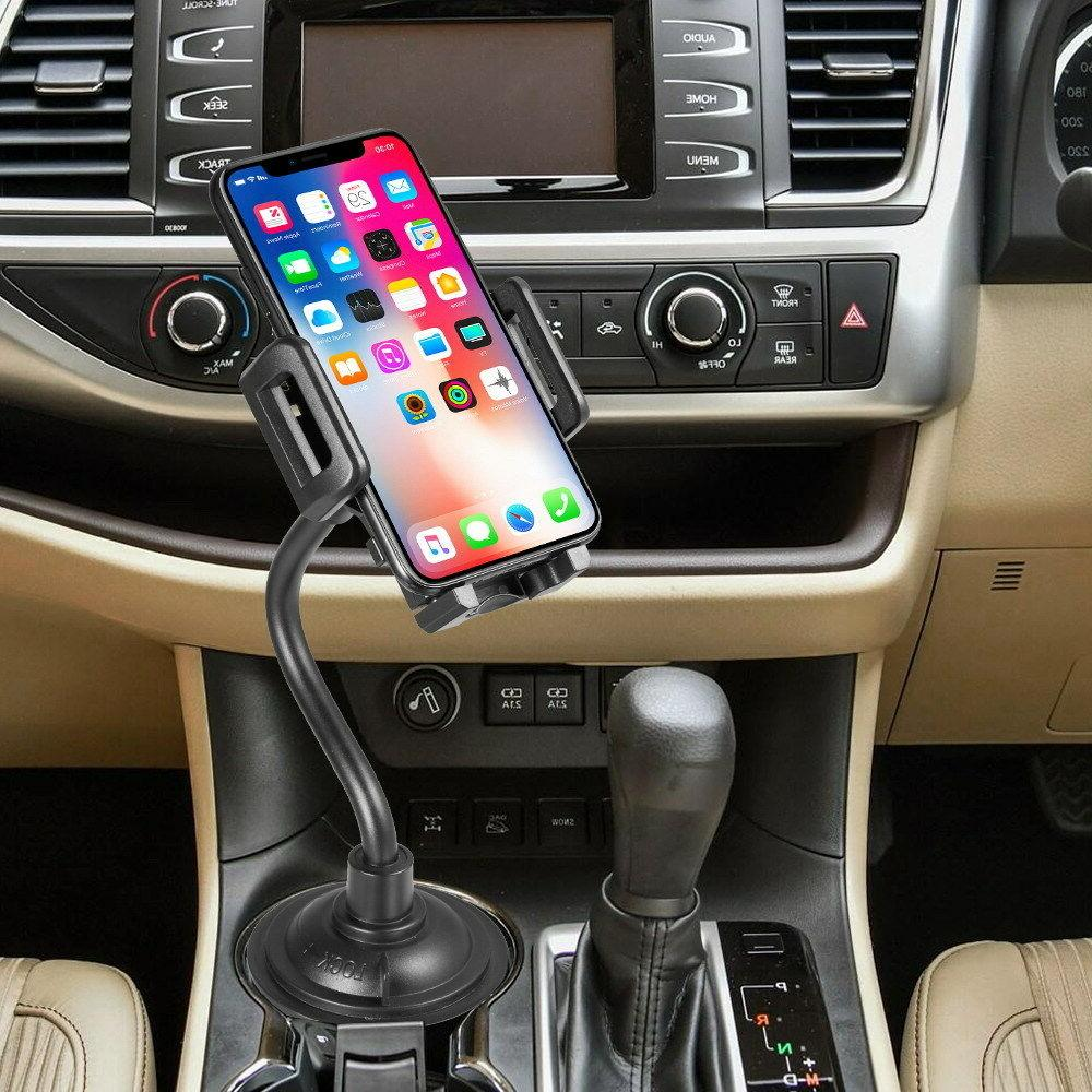Universal Mount Gooseneck Cup Holder Cradle for Cell