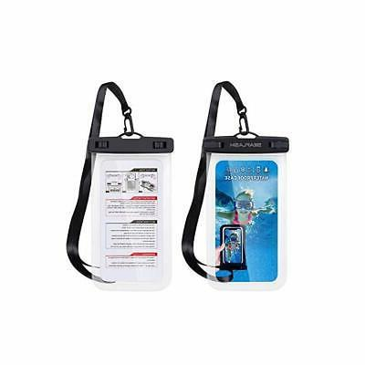 universal swimming waterproof ipx8 case cellphone dry