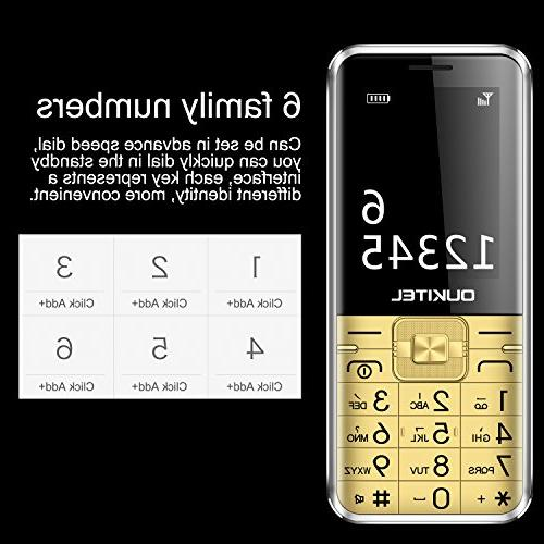 Unlocked Cell Phones, Oukitel L1 Dual SIM GSM Cell 8W Mobile People Big Battery-Gold