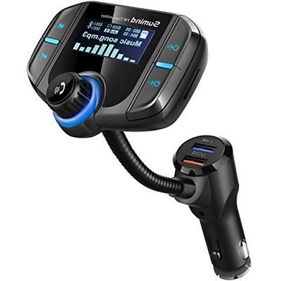 upgraded version car bluetooth fm transmitter wireless