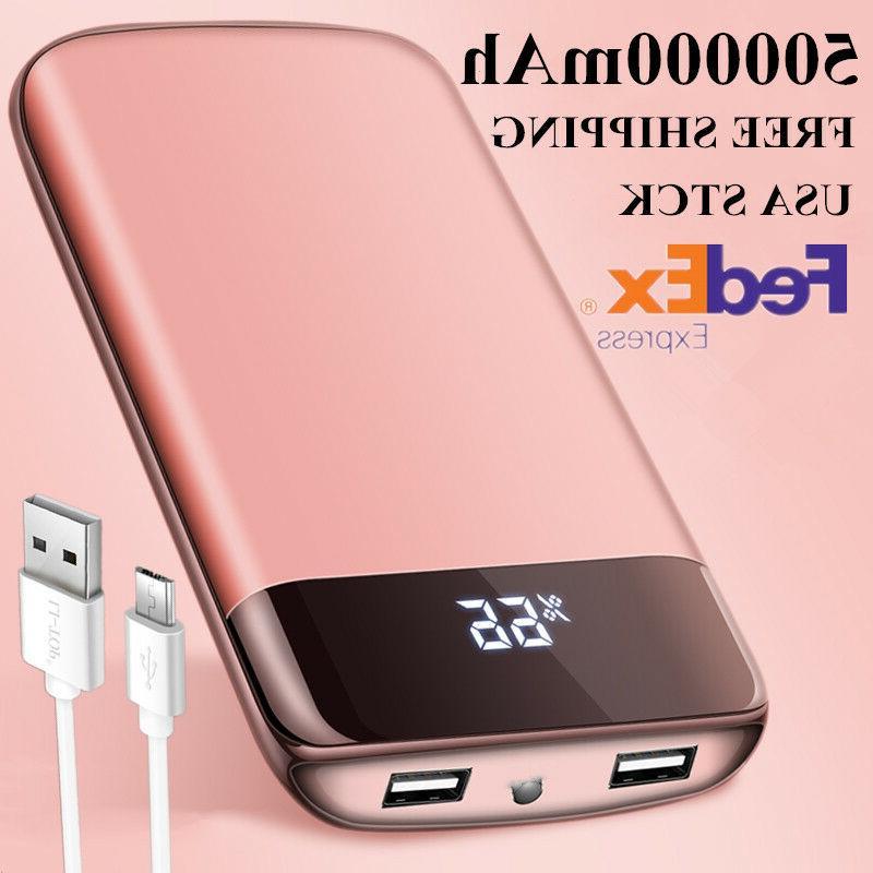 usa 500000mah power bank external universal battery