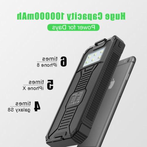 100000mAh 2USB Power Bank Battery Charger for Phone USA