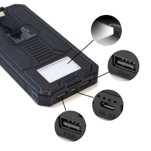 100000mAh 2USB Bank Pack Charger Cell Phone USA