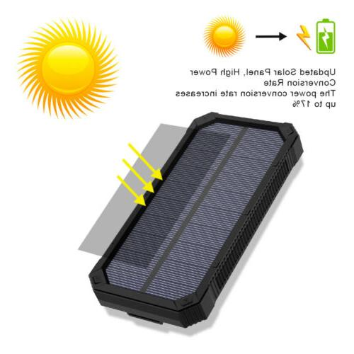 100000mAh Solar Bank External Charger for Cell USA