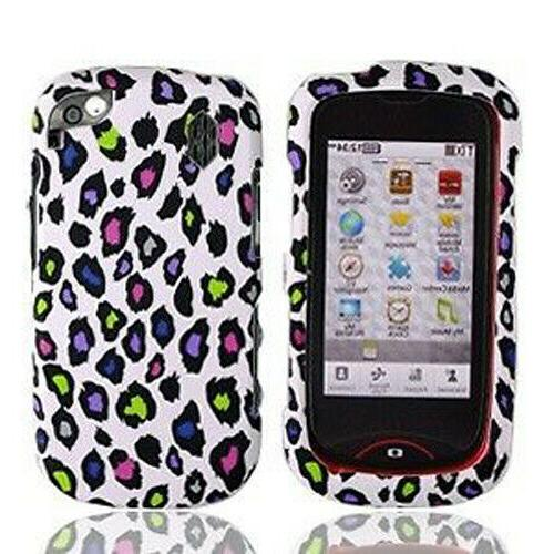 White Colorful Leopard HARD Case Snap on Phone Cover for Pan
