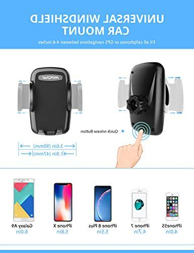 Mpow Car Phone Phone Holder for Arm Car Phone Mount Compatible iPhone Xs/XS MAX/XR/X/8/7 Plus, Galaxy LG, and