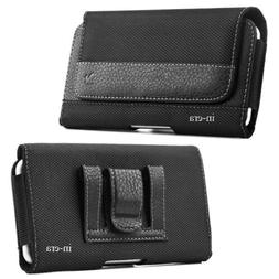 Large Cell Phone iPhone Horizontal Pouch Holster Belt Clip C