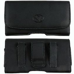 Leather Sideways Belt Clip Case Pouch Cover Holster For Pant