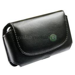 Leather Pouch Belt Phone Case for Pantech Renue P6030 Pursui