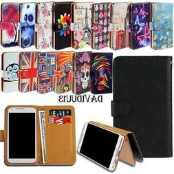 Leather Smart Stand Wallet Case Cover For Various Wiko Mobil