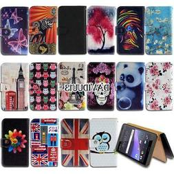 Leather Smart Stand Wallet Case Cover For HTC Desire Mobile