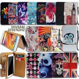 Leather Wallet Card Stand Flip Case Cover For Various ZTE Mo