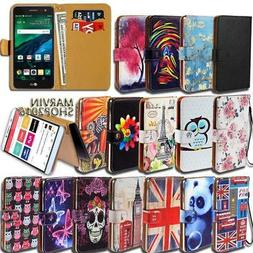Leather Wallet Card Stand Flip Case Cover For Various LG Mob