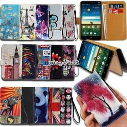 Leather Wallet Stand Magnetic Flip Case Cover For Various ZT