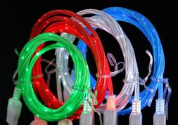 LED LIGHT-UP glow USB Data cell phone charger Cable charge F