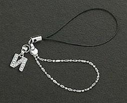 Letter N Crystals Cell Phone Charm For Mobile Phone New