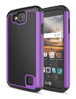 LG K3 Case, TILL  Drop Protection Dual Layer Hybrid Rubber P