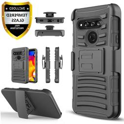 For LG K51 / Reflect L555DL Case, Belt Clip KickStand + Temp