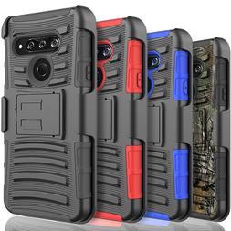 LG Stylo 6 Case, Belt Clip Armor Kickstand Phone Cover +Temp