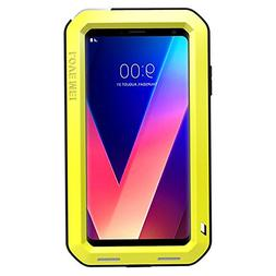 LG V30 Case,Tomplus Heavy Duty Protection Metal Extreme Alum