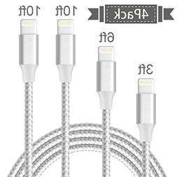 Lightning Cable,Generic iPhone Cable 3Pack 3x6FT to USB Sync