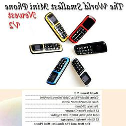 LONG-CZ V2 MIni Mobile GSM Phone Bluetooth Dialer 12 Voice C