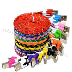 LOT Braided Micro USB Charger Cable Cord Sync For Android Ce