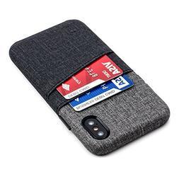 Dockem Luxe Wallet Case for iPhone X; Minimalist Card Case w