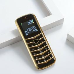 Luxury metal body Mobile phone V03 mini card 2 sim GSM senio